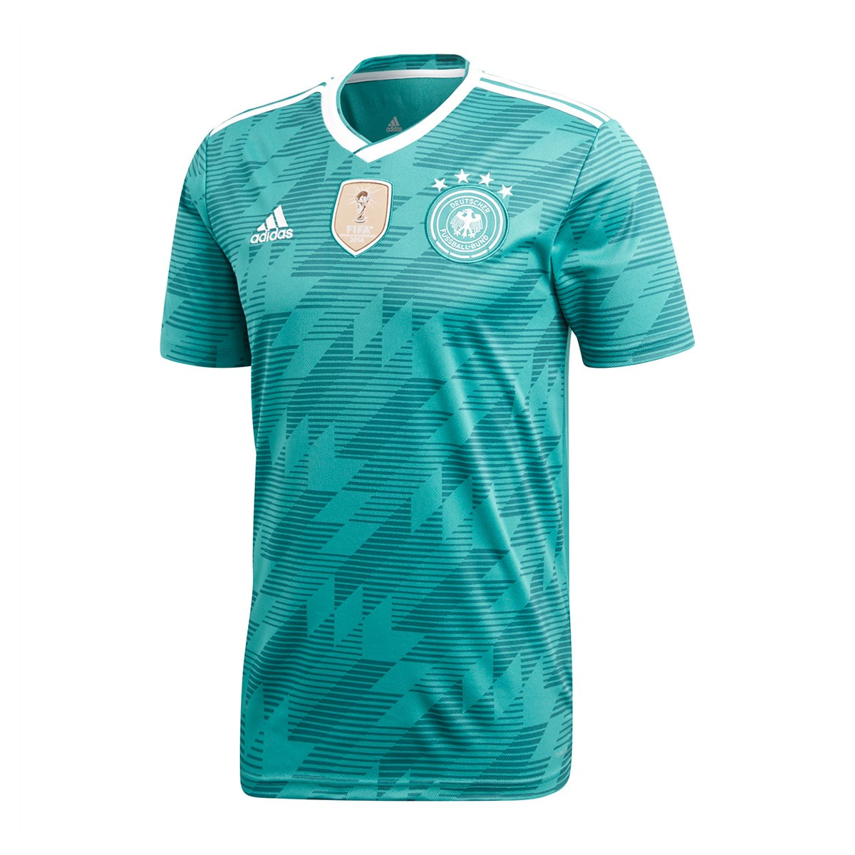 1dbe185b8 Jersey adidas Germany 2017-2018 Away Green-White-Real teal ...