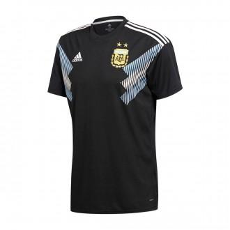 Camiseta  adidas Argentina Segunda Equipación 2017-2018 Black-Clear blue-White