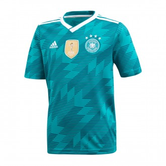 Jersey  adidas Kids Germany 2017-2018 Away Green-White-Real teal