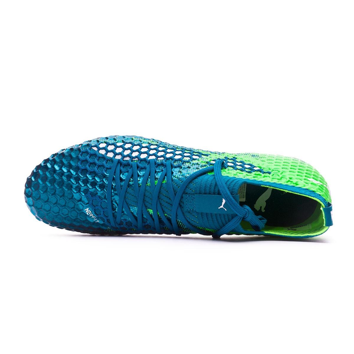 84b01efeeff69f Boot Puma Future 18.1 Netfit hyFG Deep Lagoon-Puma white-Green gecko -  Football store Fútbol Emotion