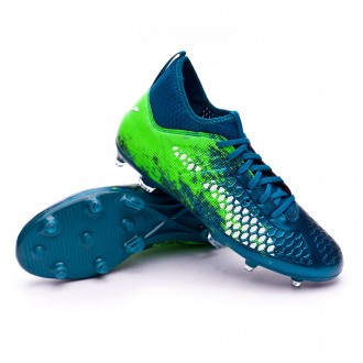 Chaussure de football  Puma Future 18.3 hyFG Deep Lagoon-Puma white-Green gecko