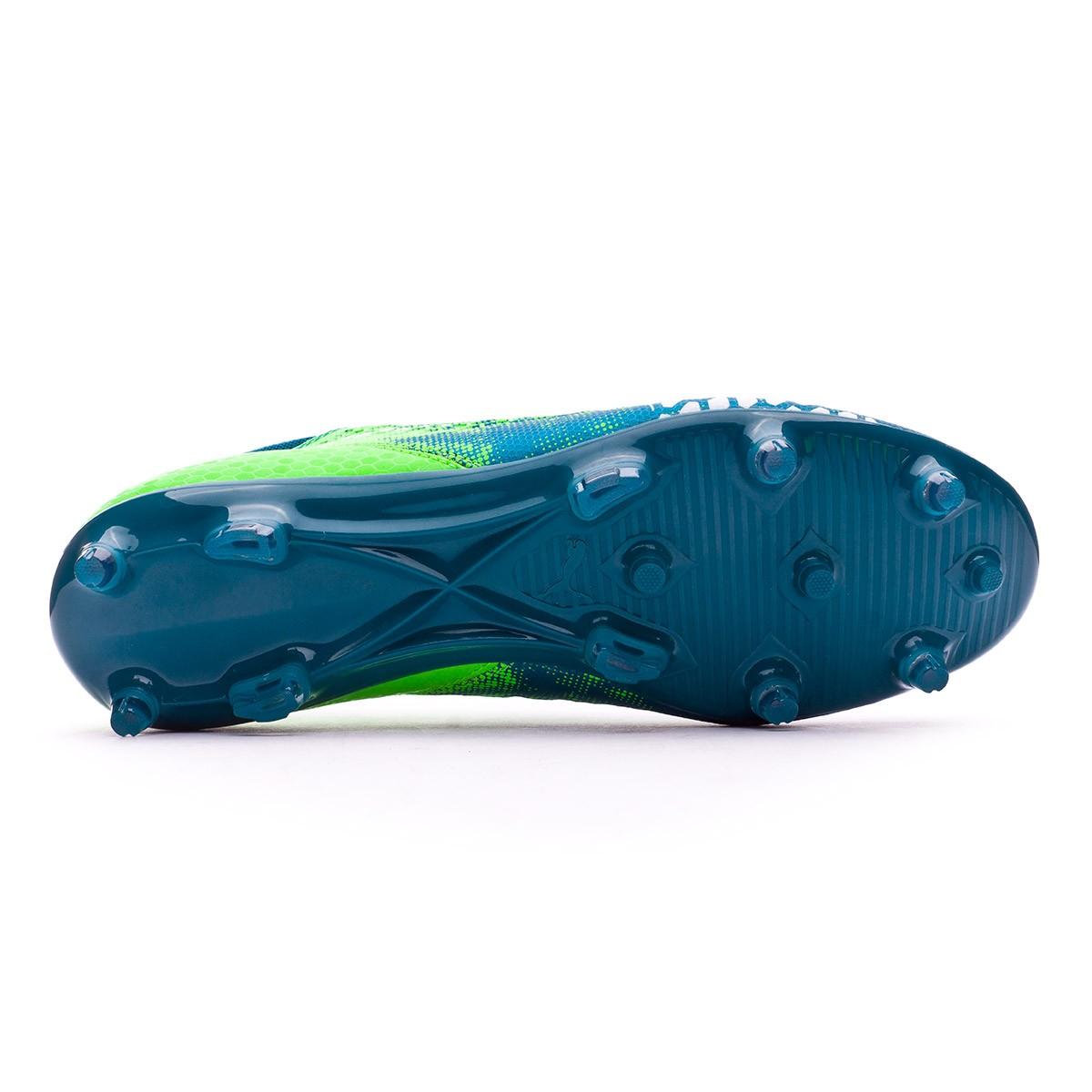7d4b68c90 Bota de fútbol Puma Future 18.4 hyFG Deep Lagoon-Puma white-Green gecko -  Tienda de fútbol Fútbol Emotion