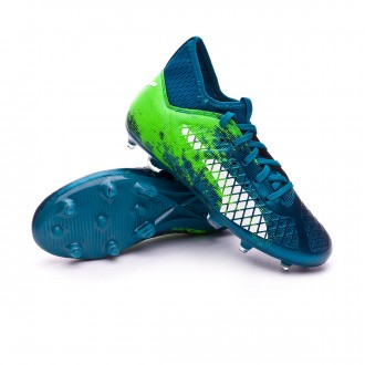 Chaussure de football  Puma Future 18.3 hyFG Niño Deep Lagoon-Puma white-Green gecko