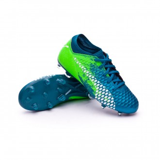 Chaussure de football  Puma Future 18.4 hyFG Niño Deep Lagoon-Puma white-Green gecko