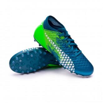 Chaussure de football  Puma Future 18.4 MG Niño Deep Lagoon-Puma white-Green gecko