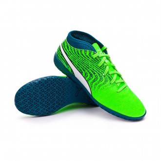 Zapatilla  Puma One 18.4 IT Niño Green gecko-Puma white-Deep lagoon