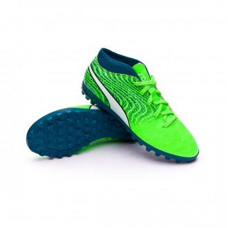 Zapatilla  Puma One 18.4 Turf Niño Green gecko-Puma white-Deep lagoon