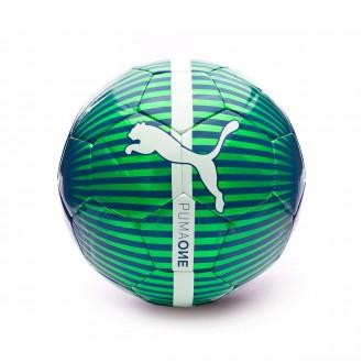 Bola de Futebol  Puma One Chrome Green gecko-Deep lagoon-Puma white