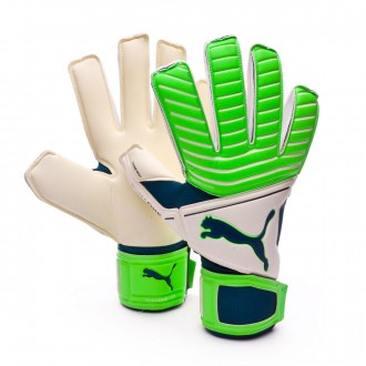Guante  Puma One Grip 17.2 RC Puma white-Green gecko-Deep lagoon