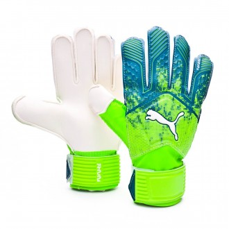 Glove  Puma Future Grip 18.4 Green gecko-Deep lagoon-Puma white