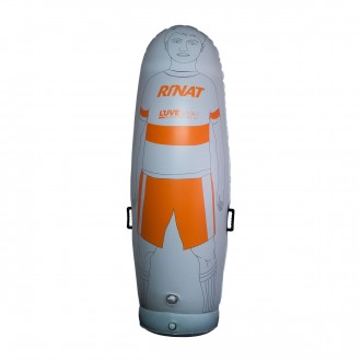 Rinat Muñeco Hinchable Training Blanco-Naranja
