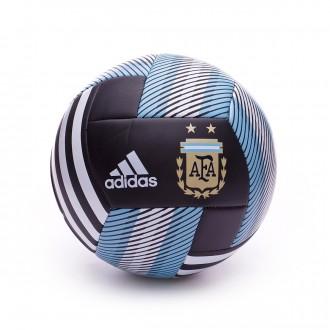 Balón  adidas Argentina 2017-2018 Black-White-Clear blue