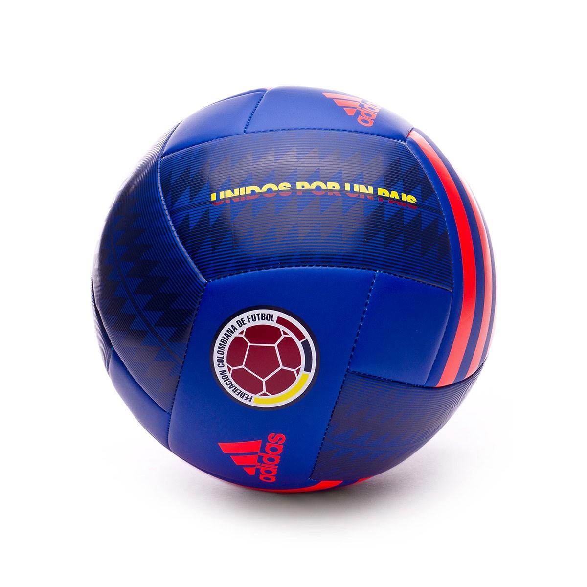 22c4e51fedb0c Balón adidas Colombia 2017-2018 Bold blue-Solar red - Tienda de fútbol  Fútbol Emotion