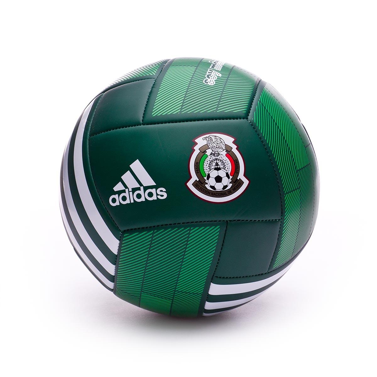 Ball adidas Mexico 2017-2018 Collegiate green-White - Soloporteros es ahora  Fútbol Emotion 622723d7557f8