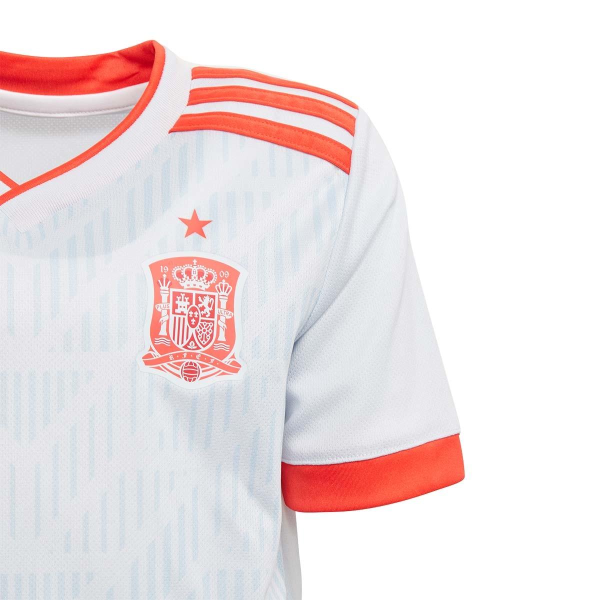 Conjunto adidas España Segunda Equipación 2017-2018 Niño Halo blue-Bright  red - Soloporteros es ahora Fútbol Emotion d4a437c94a822