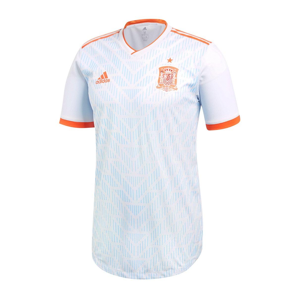 ddf9774c772bc Camiseta adidas Authentic España Segunda Equipación 2017-2018 Halo blue -  Tienda de fútbol Fútbol Emotion