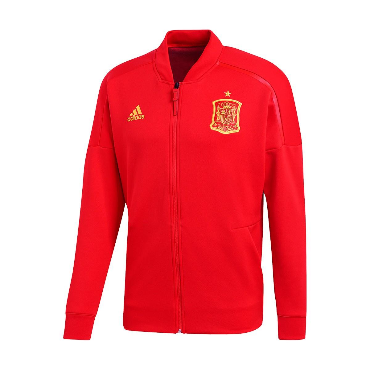 luz de sol Mejor Escalera  Jacket adidas Spain ZNE Kn 2017-2018 Red - Football store Fútbol Emotion