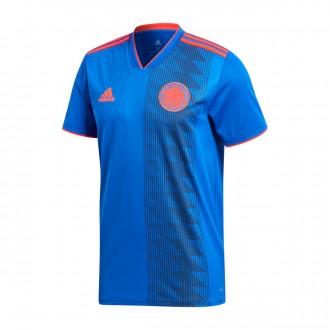 Camiseta  adidas Colombia Segunda Equipación 2017-2018 Bold blue-Solar red
