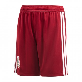 Short  adidas Mexique Extérieur 2017-2018 Collegiate burgundy-White