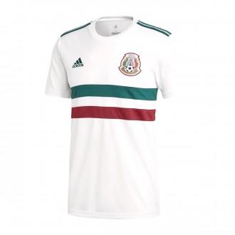 Camiseta  adidas México Segunda Equipación 2017-2018 White-Collegiate green-Collegiate burgundy