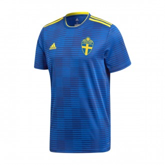 Camiseta  adidas Suecia Segunda Equipación 2017-2018 Mystery ink-Yellow