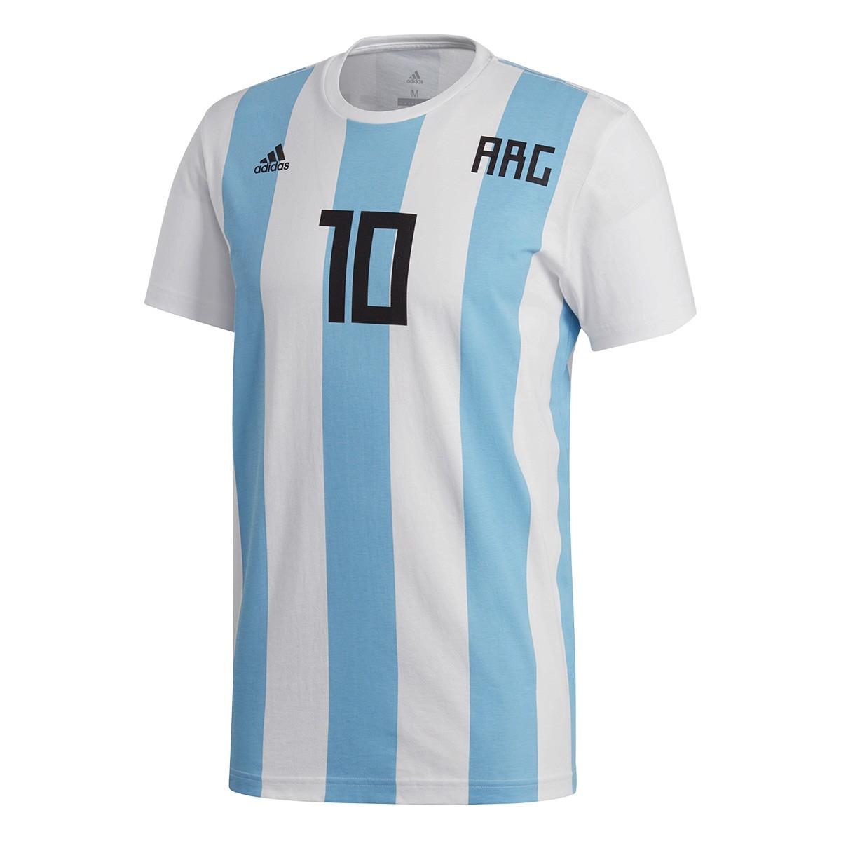 e9289b173d0b0 Playera adidas Messi Argentina 2017-2018 White - Tienda de fútbol Fútbol  Emotion