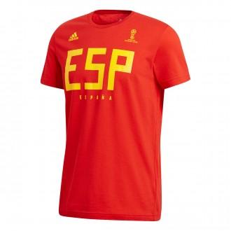 Camiseta  adidas España MMS 2017-2018 Red