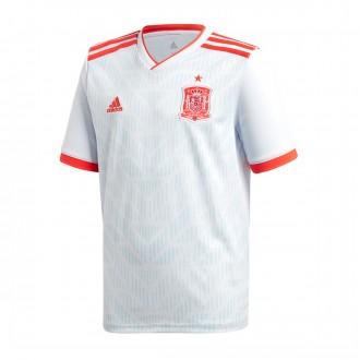 Camiseta  adidas España Segunda Equipación 2017-2018 Niño Halo blue