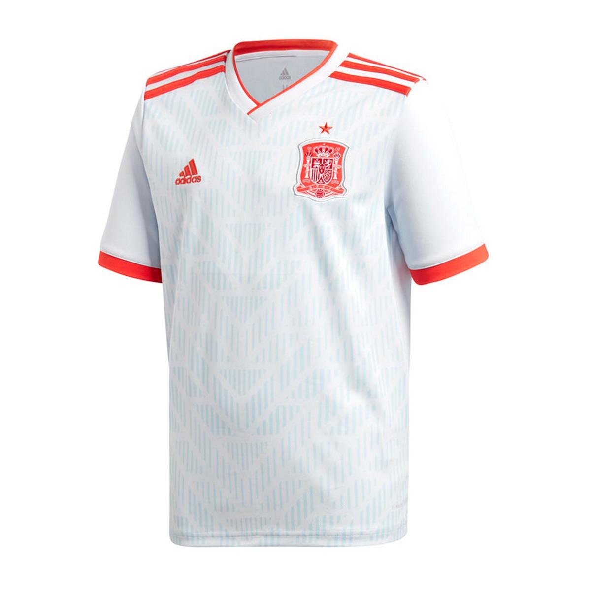 Camiseta adidas España Segunda Equipación 2017-2018 Niño Halo blue ... d65d3cc22680c