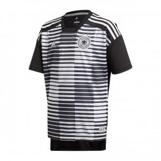 Camiseta  adidas Alemania Pre-Match 2017-2018 Niño White-Black