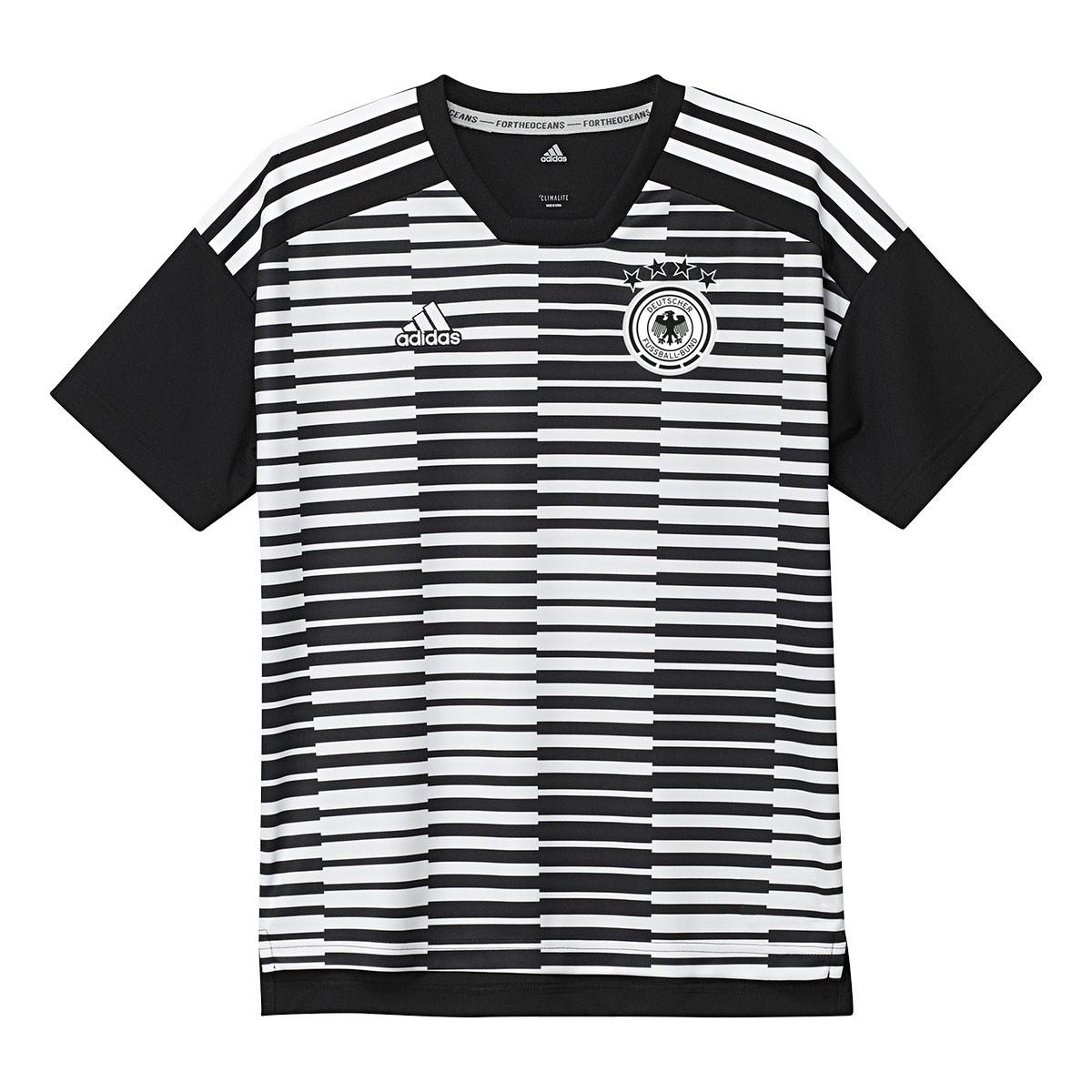 3dd888f4c10d3 Camiseta adidas Alemania Pre-Match 2017-2018 Niño White-Black - Tienda de fútbol  Fútbol Emotion