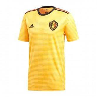 Camiseta  adidas Bélgica Segunda Equipación 2017-2018 Niño Bold gold-Black-Vivid red