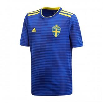 Camiseta  adidas Suecia Segunda Equipación 2017-2018 Niño Mystery ink-Yellow