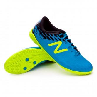 Chaussure de football  New Balance Visaro Control Turf Bleu-Amarillo Fluor