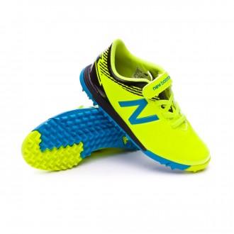 Chaussure de football  New Balance Furon Dispatch Turf Velcro Niño Jaune-Bleu