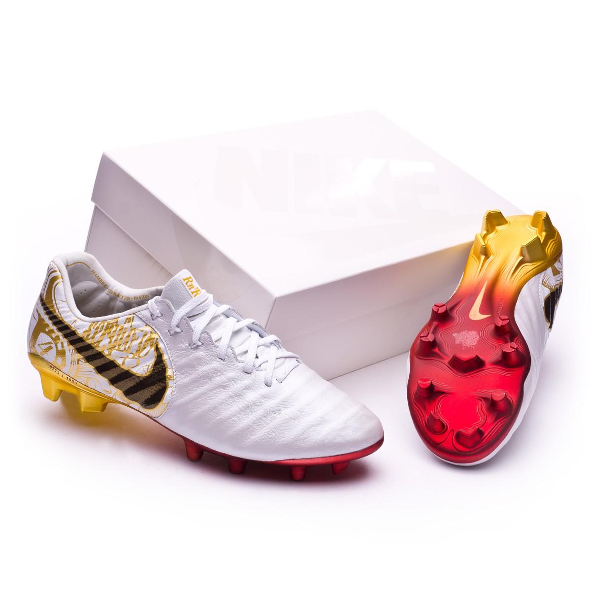 37a7c7290a46 Football Boots Nike Tiempo Legend VII SR4 FG White-Vivid gold ...