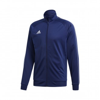 Jacket  adidas Core 18 Polyester Dark blue-White