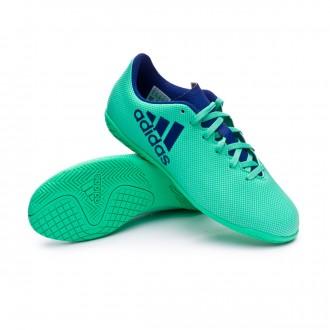 Futsal Boot  adidas X Tango 17.4 IN Niño Aero green-Unity ink-Hi-res green