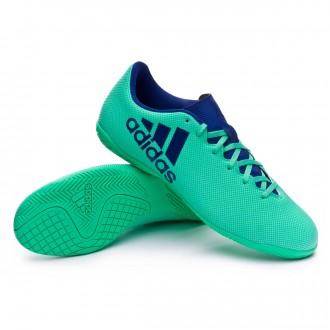Futsal Boot  adidas X Tango 17.4 IN Aero green-Unity ink-Hi-res green