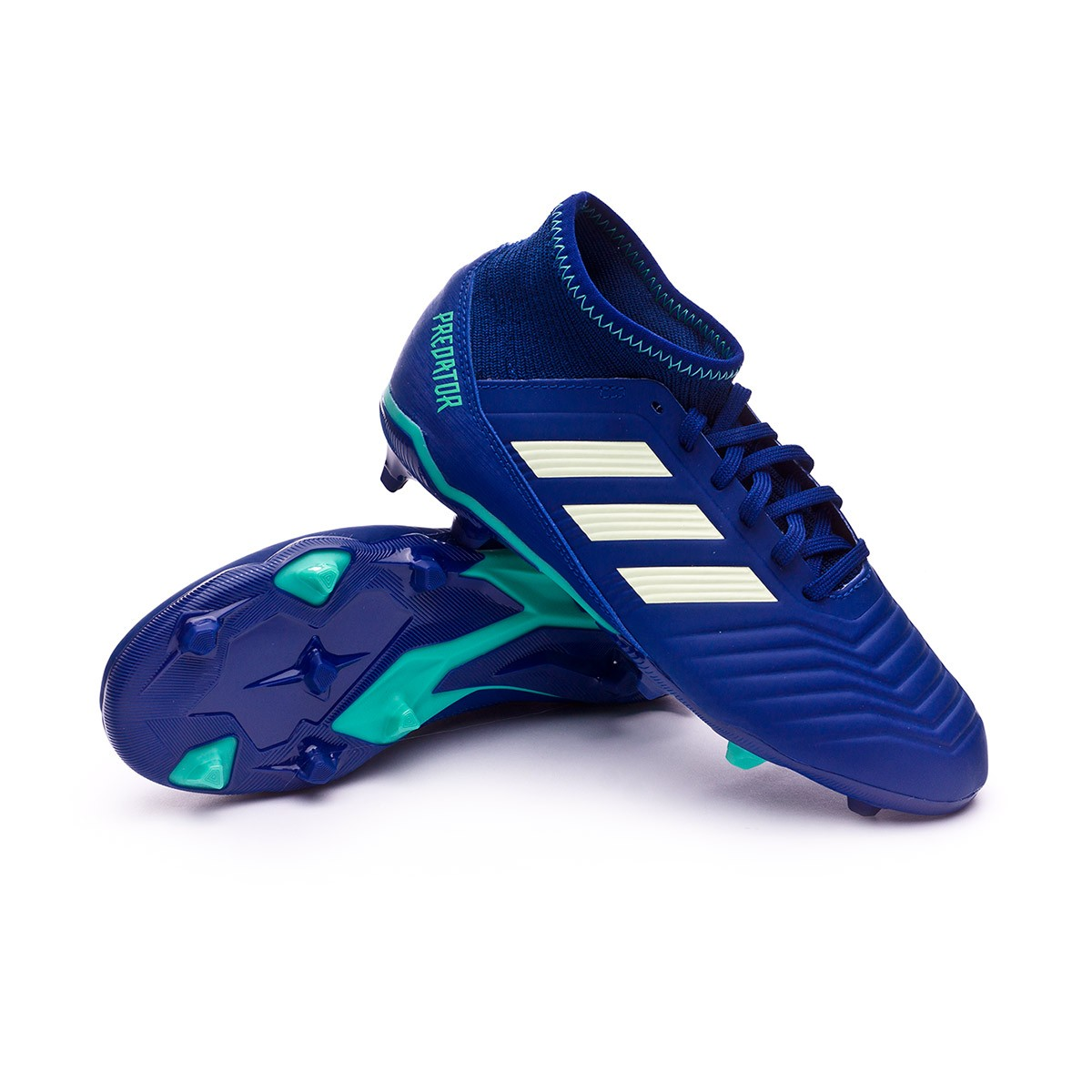 38151a12d adidas Kids Predator 18.3 FG Football Boots. Unity ink-Aero green-Hi-res ...