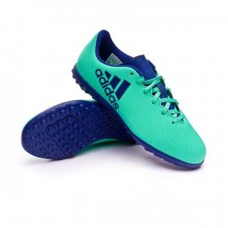 Zapatilla  adidas X Tango 17.4 Turf Niño Aero green-Unity ink-Hi-res green