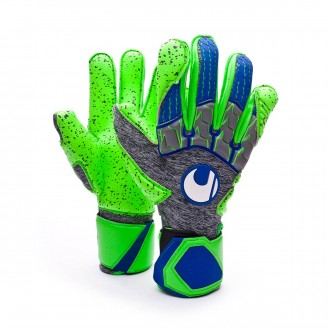 Guante  Uhlsport TensionGreen Supergrip Dark grey melange-Fluor green-Navy