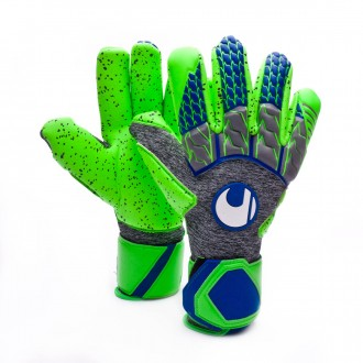 Luvas  Uhlsport TensionGreen Supergrip Finger Surround Dark grey melange-Fluor green-Navy