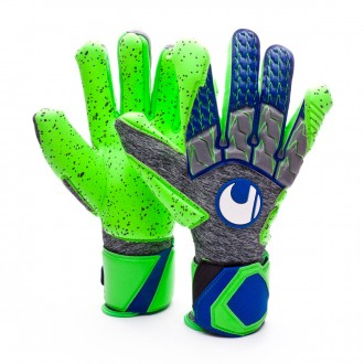 Guante  Uhlsport TensionGreen Supergrip HN Dark grey melange-Fluor green-Navy