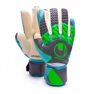Guante  Uhlsport Absolutgrip Tight HN Dark grey-Cyan-Fluor green