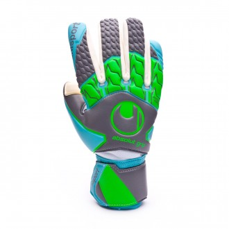 Luvas  Uhlsport Absolutgrip Tight HN Dark grey-Ciano-Fluor green
