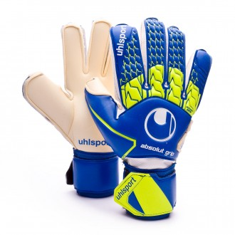 Guante  Uhlsport Absolutgrip Navy-Fluor yellow-White