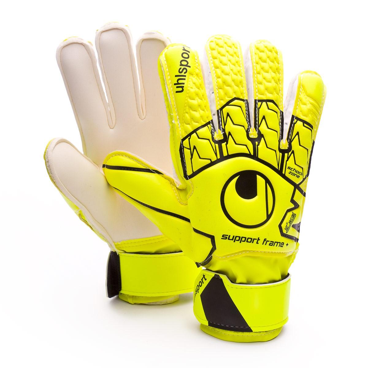 dfdb3bc4761 Guante de portero Uhlsport Soft SF+ Niño Fluor yellow-Black - Tienda de  fútbol Fútbol Emotion