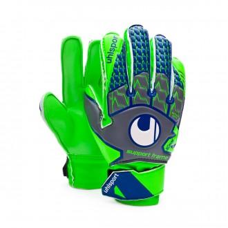 Glove  Uhlsport Kids TensionGreen Soft SF Dark grey-Fluor green-Navy