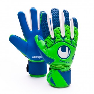 Guante  Uhlsport Aquasoft HN Windbreaker Fluor green-Pacific blue-White